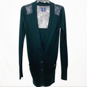Victoria's Secret Knitted Lace Boyfriend Cardigan
